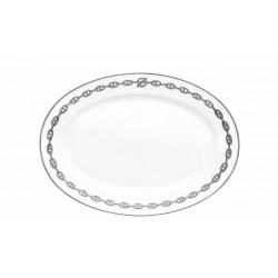 Catena d'ancora platino ovale